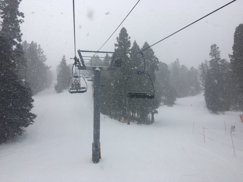 Snow as seen from Lift 1 on December 3