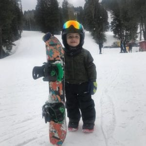 Kid with board